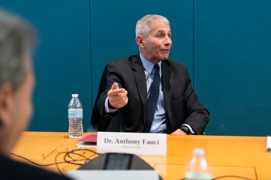 Anthony Fauci, director of the National Institute of Allergy and Infectious Diseases, answers the questions from the USA TODAY Editorial Board on Feb. 17, 2020.