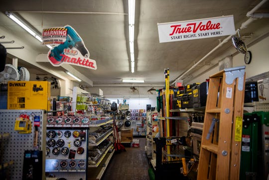 Lakeview Hardware, a 90-year-old business, is going up for sale, pictured on Feb. 19, 2020 in Battle Creek, Mich.