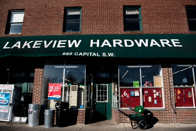 Lakeview Hardware at 660 Capital Ave. N.E. in Battle Creek is closing on Friday, Sept. 3, 2021. Owners Kerrie Redner and Craig Walters say they were unable to find a buyer for the business, and all inventory and the building will soon be up for auction.
