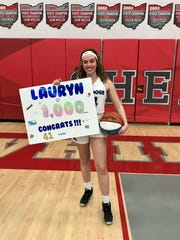 Crestline's Lauryn Tadda scored her 1,000th-point in the final game of her career.