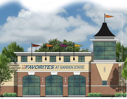 Architect's rendering shows part of proposed off-track betting facility proposed for Cherry Hill.