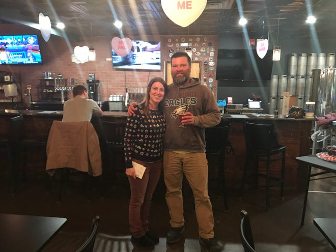 Marci Warboys (left) and Dan Pogorzelski are living their dream with their new brewery in Bordentown City. The couple balances their venture with full-time jobs.