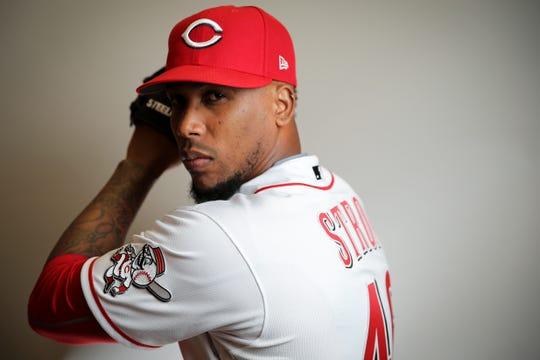 Cincinnati Reds relief pitcher Pedro Strop.