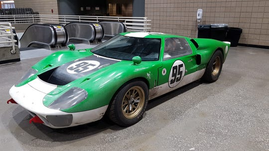 """Race cars used for the filming of """"Ford v. Ferrari"""" will be featured at Autorama in Detroit in 2020. This Ford GT40 is owned by the studio. The photo was shot Tuesday in Kansas City, Missouri."""