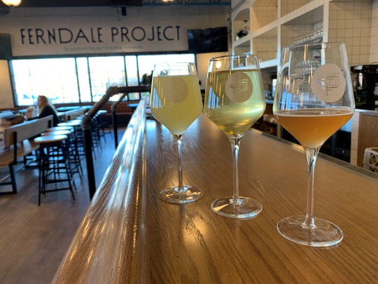 A sampling of beer and ciders from Ferndale Project, 567 Livernois in Ferndale, on Feb. 19, 2020.