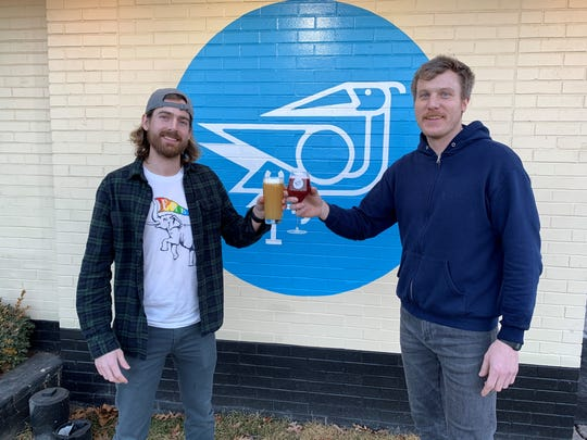 From left: Dayne Bartscht, managing partner of Eastern Market Brewing Co., and Michael Kelly, head brewer of Ferndale Project, outside Ferndale Project on Feb. 19, 2020.
