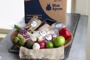 A home-delivered meal from Blue Apron.