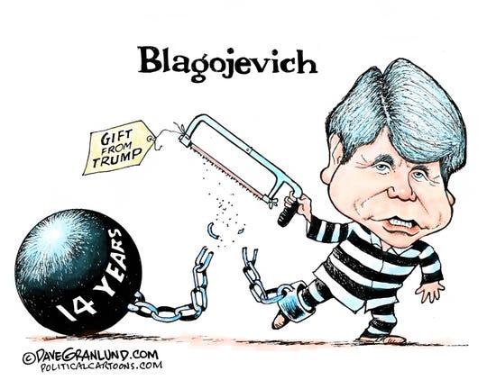 Trump pardons Blagojevich.