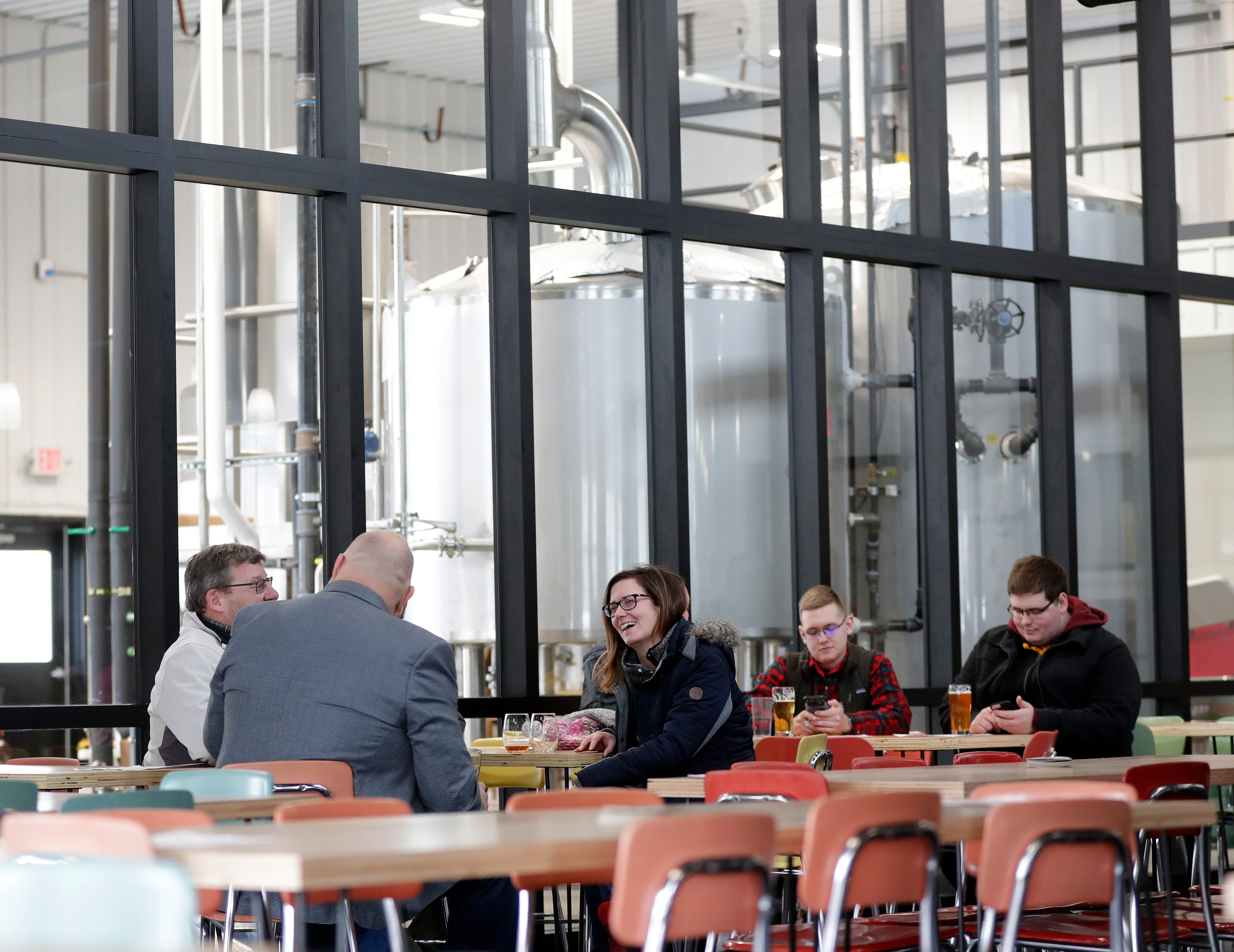 """""""We were so excited to share the beer with people,"""" said Abby about opening the taproom. """"The fact that people are coming in and enjoying it, is exactly what we wanted to do."""""""
