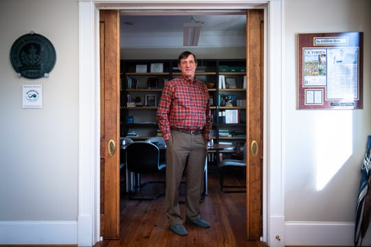 Brad Wyche, the founder and senior advisor of Upstate Forever, nonprofit conservation organization, at their office in Greenville, Monday, February 17, 2020.