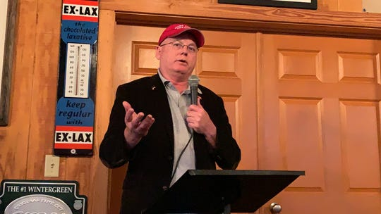 Carl Boyanton is one of four candidates seeking the District 4 congressional seat on the Republican ballot for the March 10 primary. He spoke Tuesday, Feb. 18, 2020, at a Republican women's luncheon at Movie Star Restaurant in Hattiesburg.