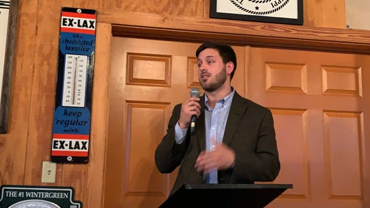Samuel Hickman is one of four candidates seeking the District 4 congressional seat on the Republican ballot for the March 10 primary. He spoke Tuesday, Feb. 18, 2020, at a Republican women's luncheon at Movie Star Restaurant in Hattiesburg.
