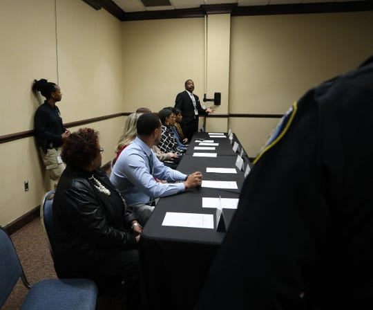 Representatives from different agencies to help the members of the Focused Deterrence program get needed help to rehabilitate discussed what's available to them during the meeting in Feb. 18, 2020.