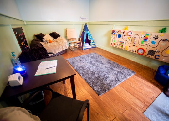 Inside the newly upgraded calming room at Dollywood in Pigeon Forge on Wednesday, February 19, 2020. Dollywood and Covenant Health announced a new partnership, and the calming room is one of the areas where the new partnership is most prominently seen.