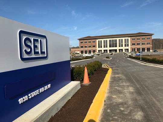 The first equipment produced at SEL Purdue, a $20 million plant expected to eventually have 300 employees at the corner of U.S. 231 and Indiana 26, came off the line Wednesday, Feb. 19, 2020. SEL Purdue is in Purdue's Discovery Park District.
