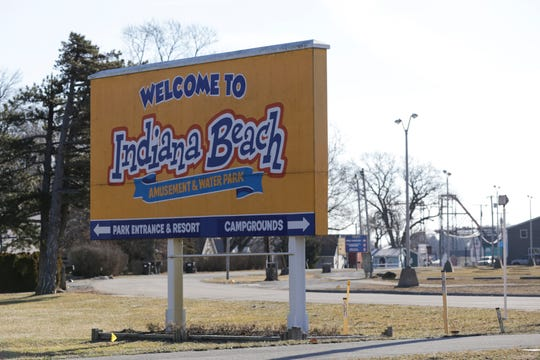 "A ""Welcome to Indiana Beach"" sign along NW Shafer Drive, Wednesday, Feb. 19, 2020 in Monticello. Apex Parks Group announced Tuesday to White County officials it was closing the popular Indiana Beach amusement park that has operated on Lake Shafer since 1926."
