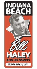 Bill Haley and His Comets played Indiana Beach on May 31, 1957. The act was among many who played the amusement park during its history.