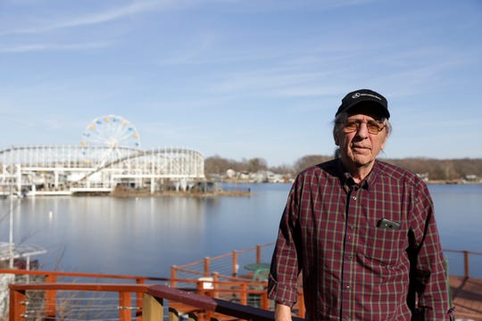 Steve Harris, who has lived along Lake Shafer just yards away from Indiana Beach since 2000, poses for a photo, Wednesday, Feb. 19, 2020 in Monticello. Apex Parks Group announced Tuesday to White County officials it was closing the popular Indiana Beach amusement park that has operated on Lake Shafer since 1926.