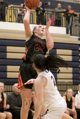 Sophie Dziekan scored a career-high 30 points for Brighton in a district final victory over South Lyon East.