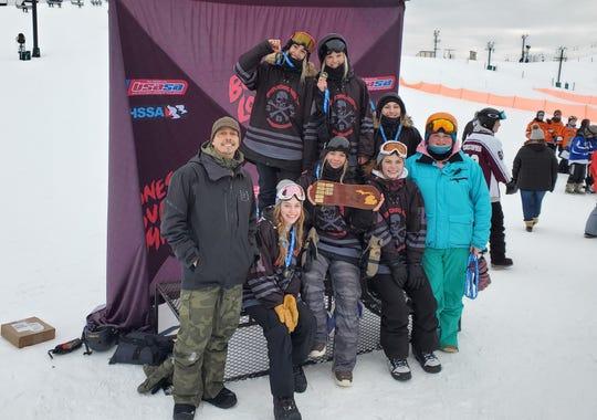 Pinckney's girls won the Michigan High School Snowboard Association state championship.