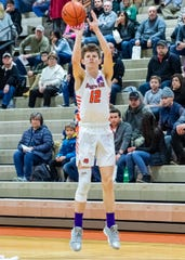 Brighton's Jake Edwards had 12 points and 10 rebounds in a victory over Hartland.