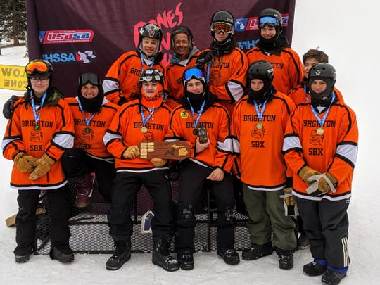 Brighton's boys won the Michigan High School Snowboard Association state championship.