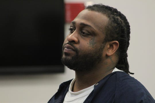 Steven Washington awaits his sentencing hearing Feb. 19, 2020. Washington was convicted of second-degree murder for killing an Michigan State University student.