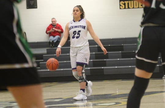 Lexington's Gabby Stover leads Lady Lex into battle against Shelby on Saturday.