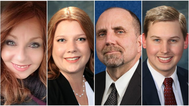 Suzzette Grisham (left), Danna Kuehn, Barry Waddell and Wesley Borden were the top four vote-getters in the Feb. 18 primary election for West Allis' third aldermanic district and will advance to the April 7 election.
