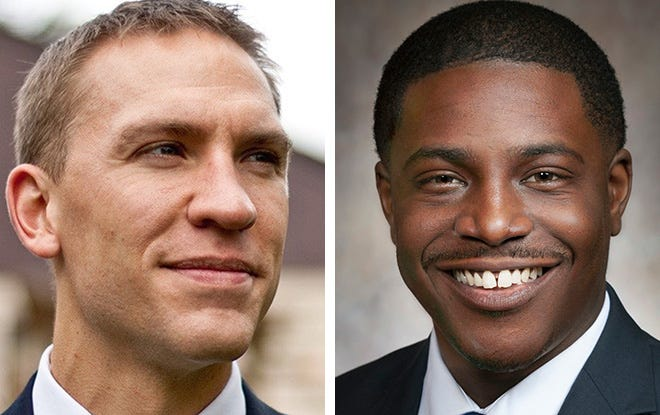 State Sen. Chris Larson, left, and state Rep. David Crowley will compete in the April 7 election for Milwaukee County executive.