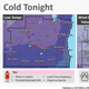 Cold temperatures are forecast overnight Wednesday into early Thursday across southeast Wisconsin.
