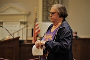 Mary Wisdom, a resident of Montgomery, spoke against the occupational tax.