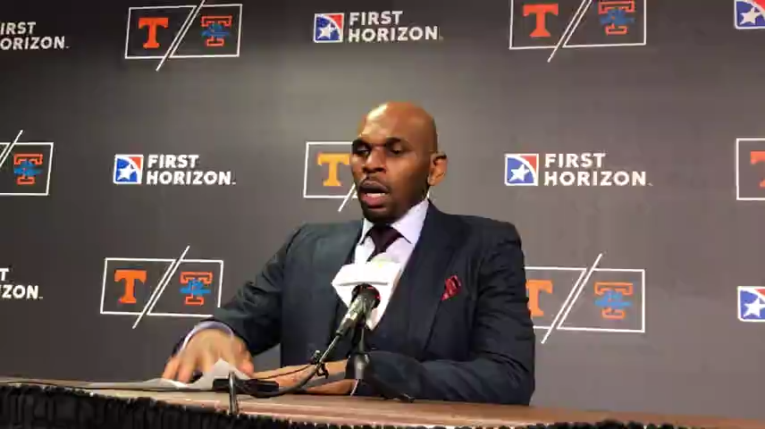 Vanderbilt coach Jerry Stackhouse after 65-61 loss to Tennessee Vols