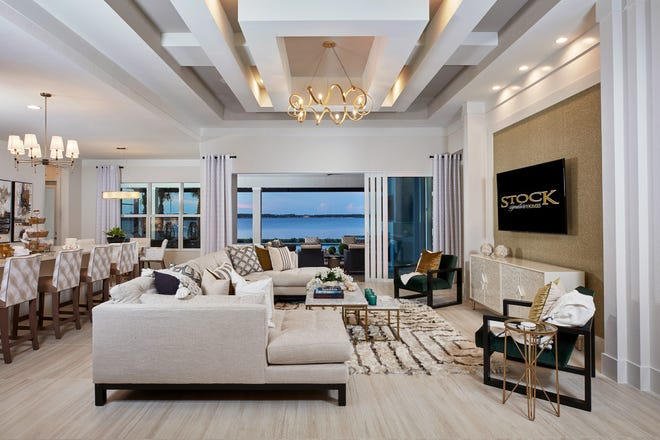 The great room of Stock's Sterling model at WildBlue in Estero.