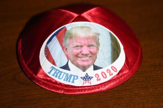 Donald Trump yamaka. Wednesday, February 19, 2020.