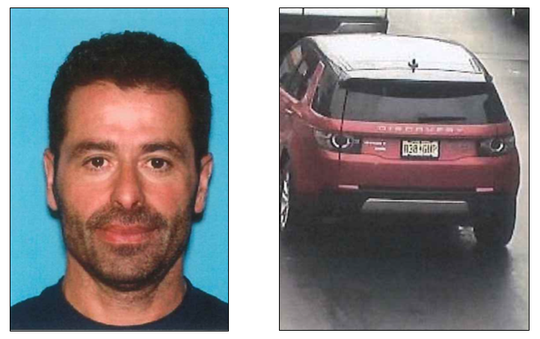Nutley police are searching for Andres Fernandez, left, who is known to drive the Land Rover discover seen here.