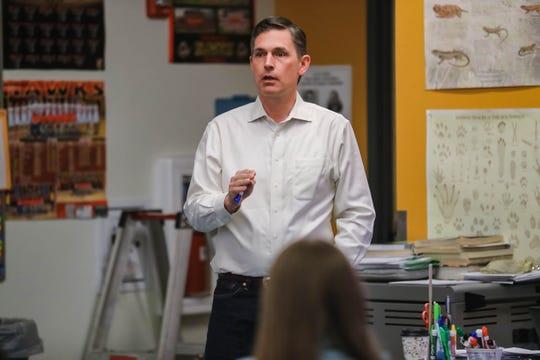 U.S. Sen. Martin Heinrich, D-N.M., on a visit to Centennial High School in Las Cruces on Wednesday, Feb. 19, 2020.
