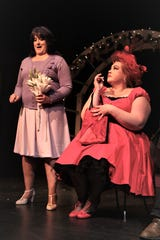 "Karen DiGiacomo, left, and Stephanie McDonald are featured in the Theater Ensemble Arts production of ""Four Weddings and an Elvis"" continuing this weekend at the Totah Theater in downtown Farmington."