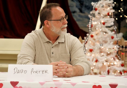 City Commission candidate David Porter participates in a forum, Tuesday, Feb. 18, 2020, in Aztec.