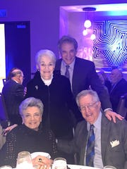 Major donor Barbara Fremont joins Libby Hoffman; Bruce Landgarten, CEO, Jewish Federation of the Desert, and Burton Hoffman at JFED's annual Major Gifts Dinner, held Feb. 10, 2020.