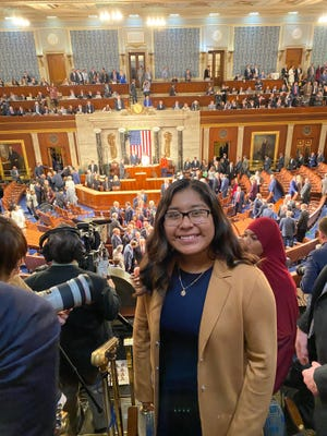 Elizabeth Esteban was Rep. Raul Ruiz's guest at the nation's Capitol for President Trump's 2020 State of the Union address.