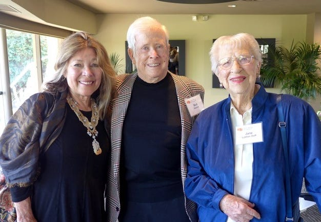 Award presenter Melissa Montgomery-Lynch and event sponsor Bud Hoover were pleased to honor Jane Hoff.
