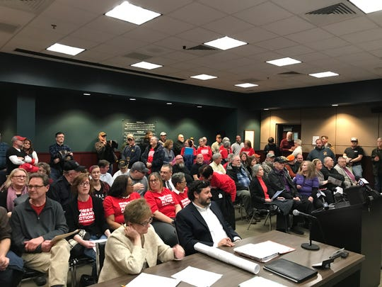 Many came to the West Manheim Township Board of Supervisors meeting on February 18, 2020, to express their support or opposition for the Second Amendment sanctuary ordinance.
