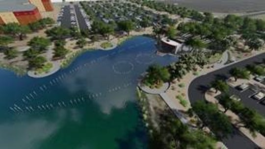 The USS Arizona Memorial Gardens are new to Salt River Fields at  Talking Stick.