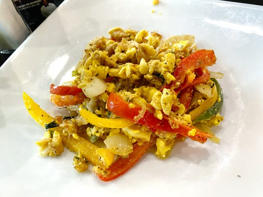Ackee and saltfish at Island Vybz Bar & Grill in Phoenix.