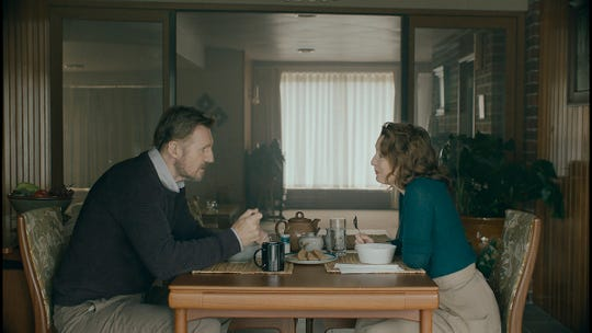 Liam Neeson (left) and Lesley Manville face the challenges of a devastating diagnosis in 'Ordinary Love.'
