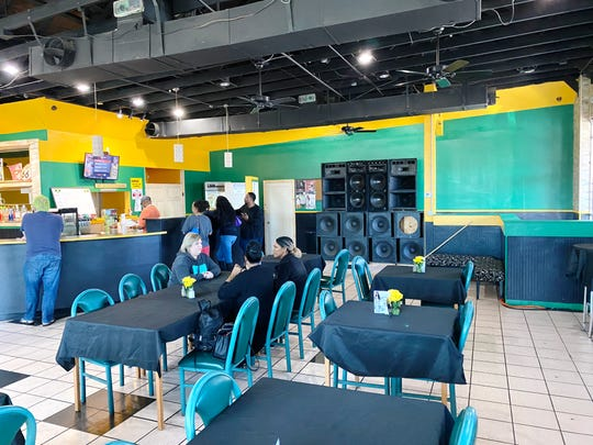 The interior of Island Vybz Bar & Grill in Phoenix.
