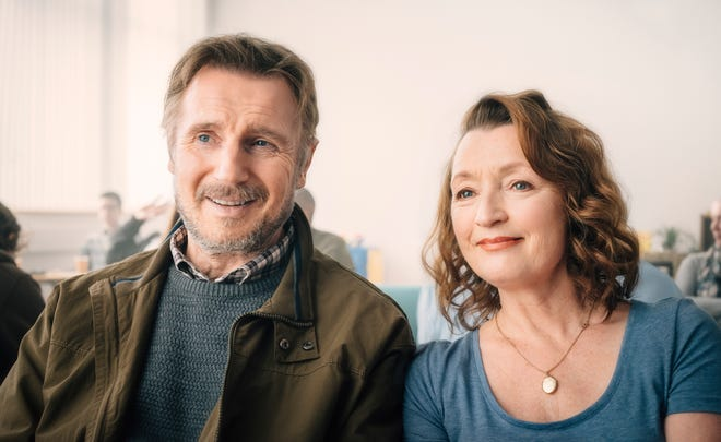 Liam Neeson (left) and Lesley Manville star in 'Ordinary Love.'