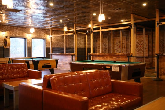 The lounge at Spins Bowl Poughkeepsie on February 18, 2020.