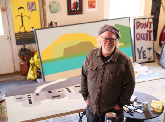 Rick Rogers inside his art studio in Beacon on February 18, 2020.